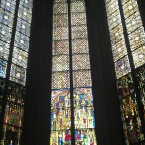 Gorgeous stained glass inside the Dom.