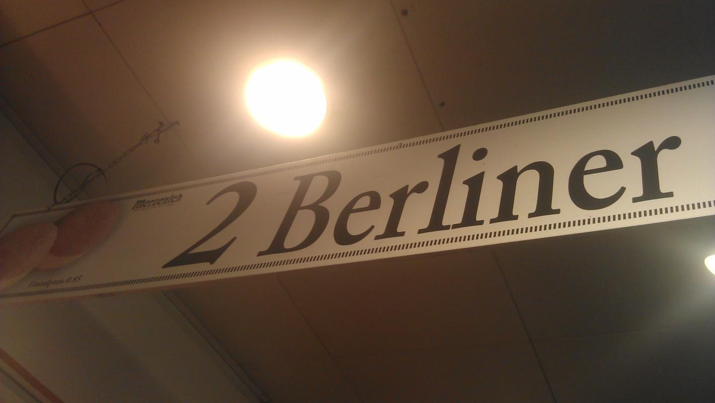 A Berliner is a stuffed donut, yummy.
