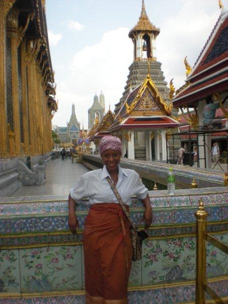 Oneika at the Royal Palace in Bangkok, Thailand.