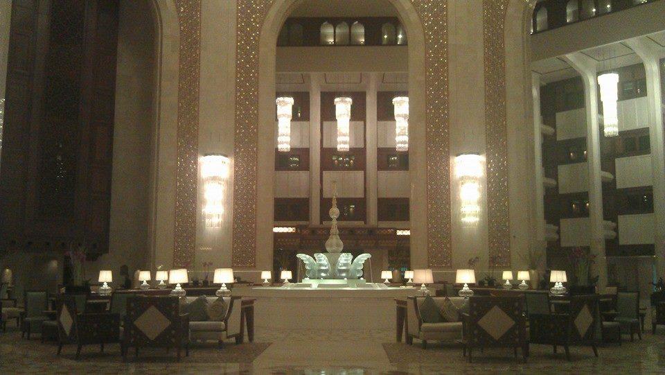 Luxurious lobby area.