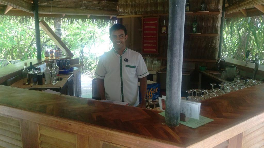 My nice beach bartender.