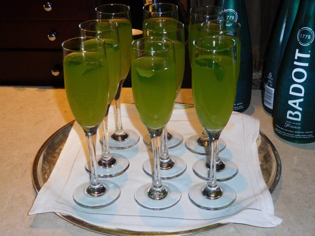 Delicious lime mint juice.