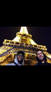 Ron in Paris with his buddy.